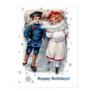 Buenas fiestas. Postales adaptables del navidad