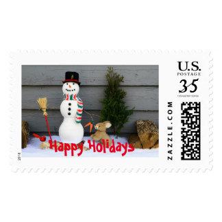 Buenas fiestas Poststamp Timbres Postales