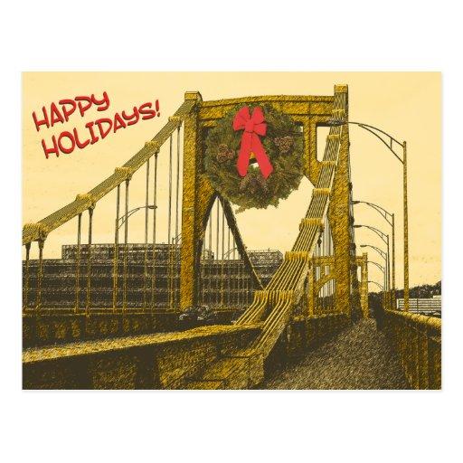 Buenas fiestas puente tarjetas postales