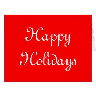 Buenas fiestas Rojo y blanco Festivo Felicitaciones