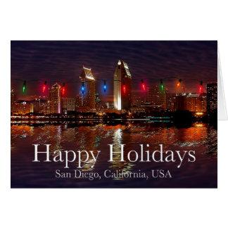 Buenas fiestas San Diego, California Felicitaciones