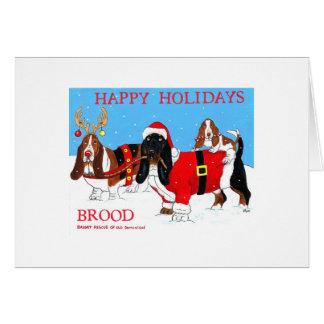 Buenas fiestas tarjeta