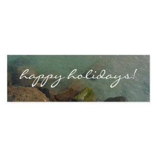 Buenas fiestas tarjetas de visita mini