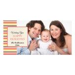 Buenas fiestas tarjeta colorida de la foto de las  tarjeta personal