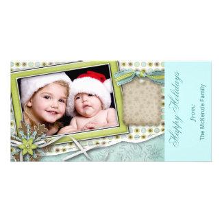 Buenas fiestas plantilla para tarjeta de foto