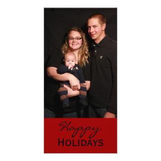 buenas fiestas tarjeta fotografica personalizada