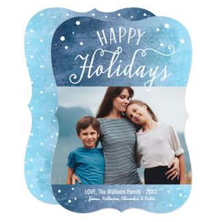 """Buenas fiestas tarjeta de felicitación de la foto invitación 5"""" x 7"""""""