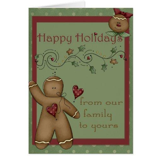 Buenas fiestas tarjeta de felicitación de los