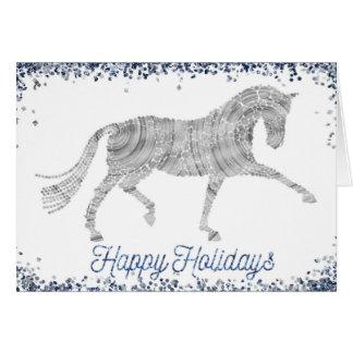 Buenas fiestas tarjeta de felicitación de plata
