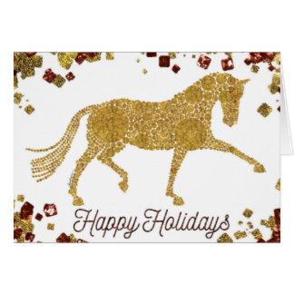Buenas fiestas tarjeta de felicitación del caballo