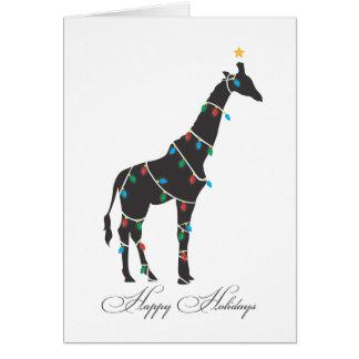 Buenas fiestas tarjeta de felicitación - jirafa