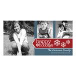 Buenas fiestas tarjeta de la foto con 3 fotos tarjetas fotográficas