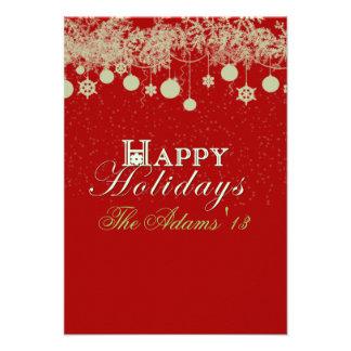 Buenas fiestas tarjeta de la foto de familia del i comunicado personal