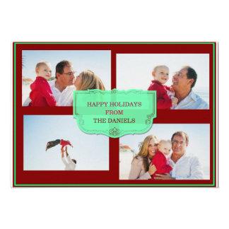 Buenas fiestas tarjeta de la foto de familia del n anuncio