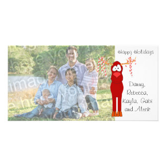 Buenas fiestas tarjeta de la foto del bastón del r tarjetas fotograficas personalizadas