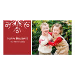 Buenas fiestas tarjeta de la foto tarjeta fotografica