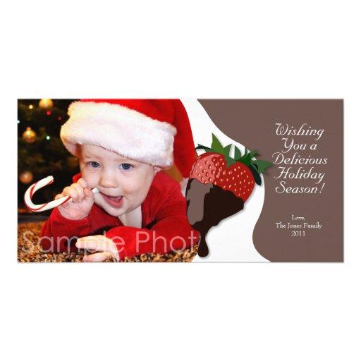 Buenas fiestas tarjeta de la foto tarjetas fotograficas