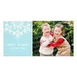 Buenas fiestas tarjeta de la foto tarjeta personal con foto