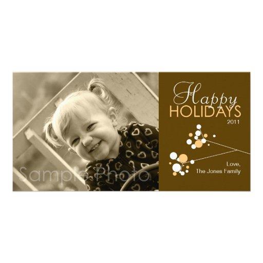 Buenas fiestas tarjeta de la foto tarjeta fotografica personalizada
