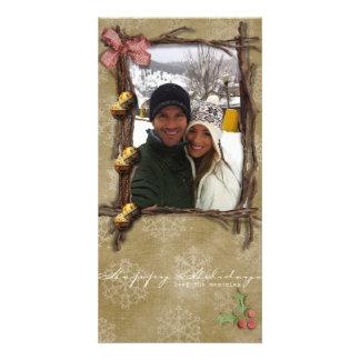 buenas fiestas tarjeta de la foto tarjetas con fotos personalizadas