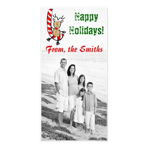 Buenas fiestas tarjeta de la foto tarjetas personales