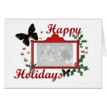 Buenas fiestas tarjeta de la mariposa