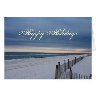 Buenas fiestas tarjeta de la playa