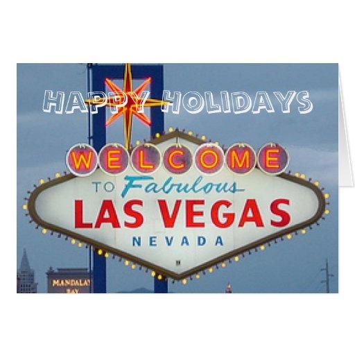 Buenas fiestas tarjeta de Las Vegas