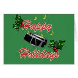 Buenas fiestas tarjeta de Navidad