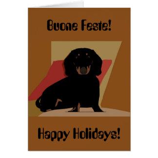 Buenas fiestas tarjeta de Navidad bilingüe del Dac