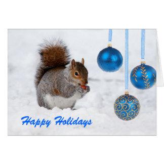 Buenas fiestas tarjeta de Navidad de la ardilla