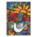 Buenas fiestas tarjeta de Navidad de la paloma de