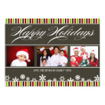 Buenas fiestas tarjeta del copo de nieve y de la anuncios personalizados