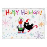 ¡Buenas fiestas! tarjeta del perro