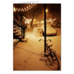Buenas fiestas tarjeta - nevadas Nueva York del in