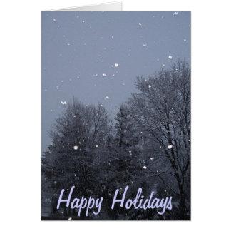 Buenas fiestas tarjeta pequeña
