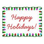 Buenas fiestas tarjeta postal
