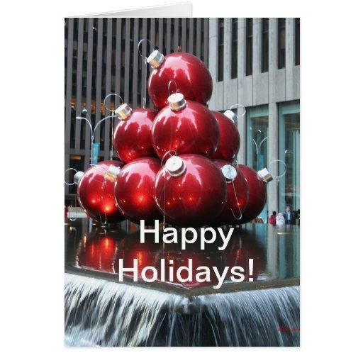 Buenas fiestas tarjeta Rockefeller Nueva York de c