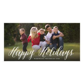 Buenas fiestas tarjeta simple del día de fiesta de tarjeta fotografica