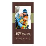 Buenas fiestas tarjetas de la foto de familia de l tarjeta personal con foto