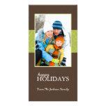 Buenas fiestas tarjetas de la foto de familia del  tarjeta fotográfica personalizada