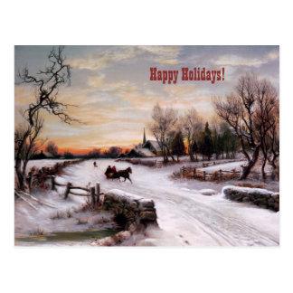 Buenas fiestas. Tarjetas de Navidad adaptables Postal