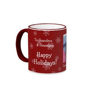 Buenas fiestas taza de la foto del navidad