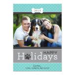 Buenas fiestas tema del perro de perrito de la invitacion personalizada