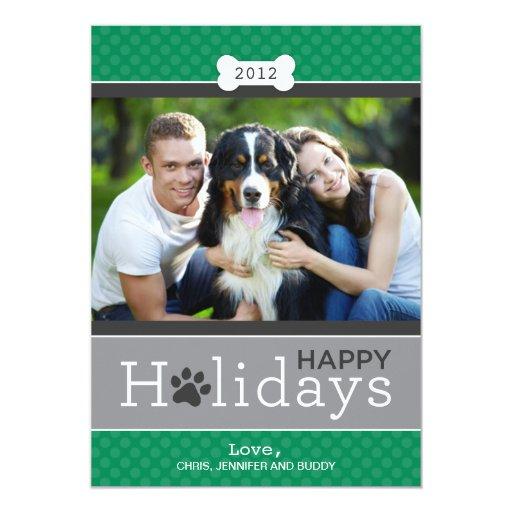 Buenas fiestas tema del perro de perrito de la comunicado personal