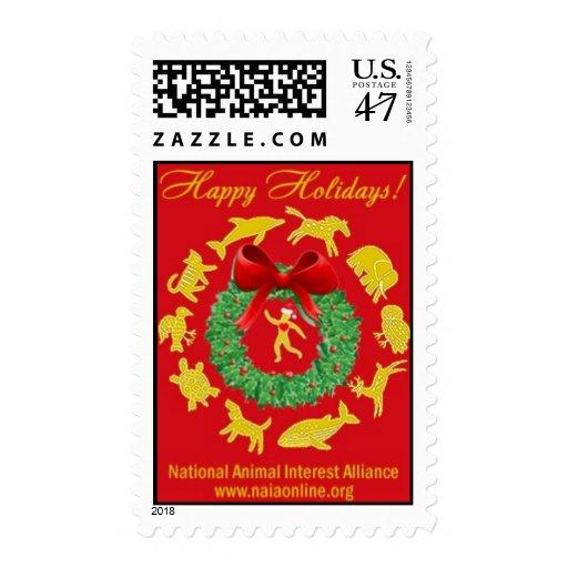 Buenas fiestas timbres postales