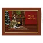 Buenas fiestas, tostada pasada de moda del navidad tarjeta de felicitación