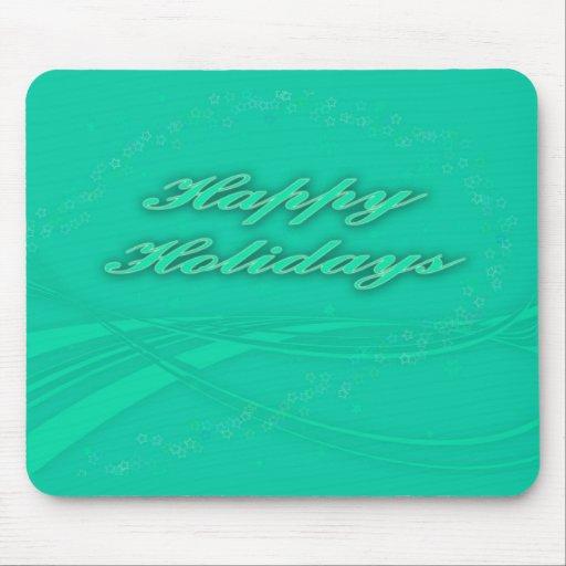 Buenas fiestas verde en diseño verde del día de fi tapetes de ratón