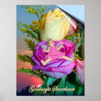 Buenas noches amor - impresión póster