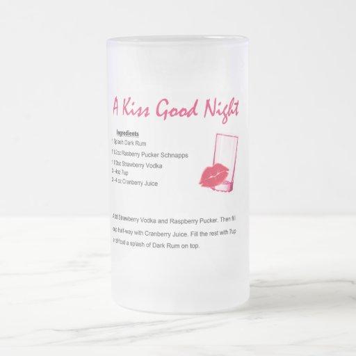 Buenas noches del beso tazas de café